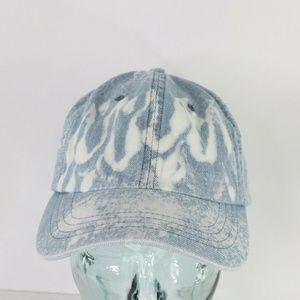 Vintage Acid Wash Flame Print Denim Dad Hat Cap